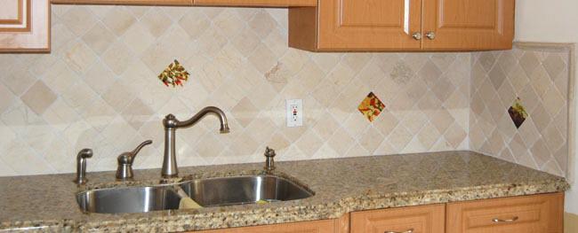 kitchen backsplash accent tile the vineyard tile murals tuscan