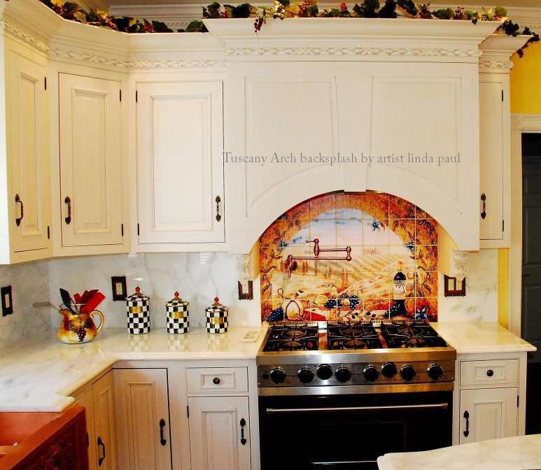 Kitchen With Backsplash Idea: Tuscany Backsplash Tiles