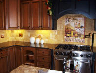 tuscan kitchen splash back