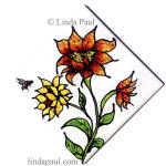 diagonal sunflower ceramic accent tile